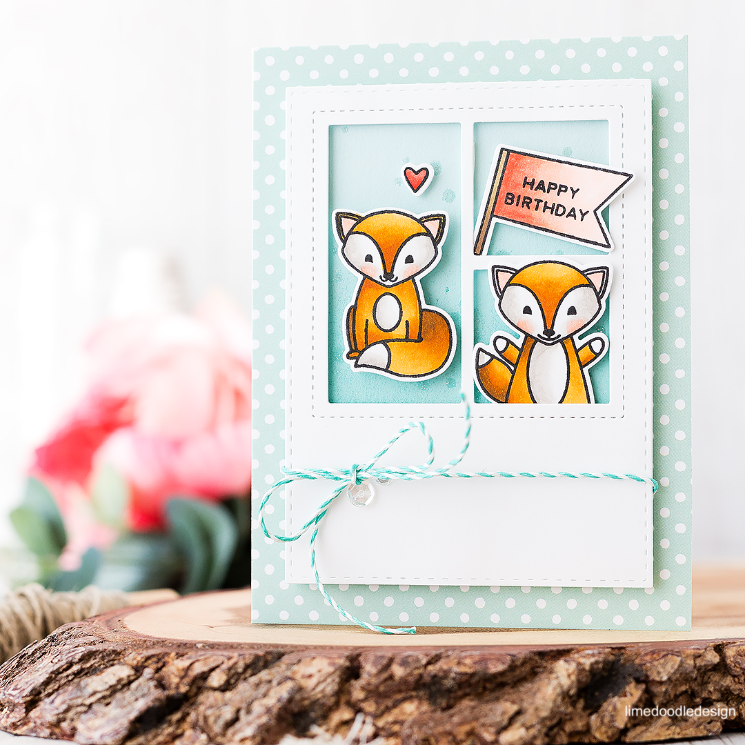 Happy Birthday Foxes! Find out more about this card by clicking on the following link: http://limedoodledesign.com/2016/08/pretty-pink-posh-august-new-release/