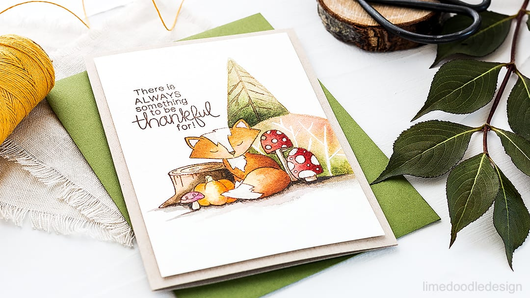 A sweet thankful foxy forest scene using the new Newton's Nook exclusive STAMPtember set. Find out more about this card by clicking on the following link: http://limedoodledesign.com/2016/09/thankful-newtons-nook-stamptember/