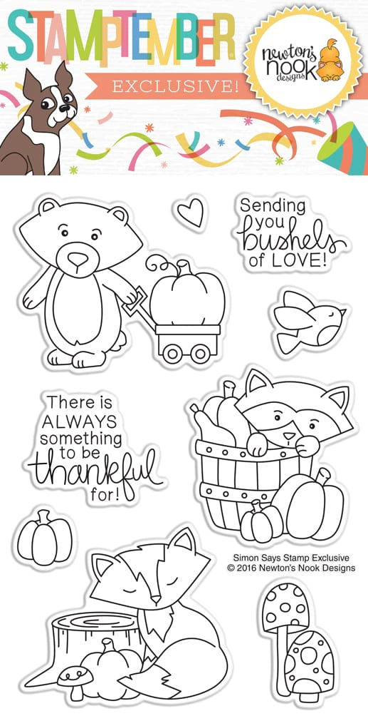 Newton's Nook exclusive STAMPtember Bushels Of Love set for Simon Says Stamp