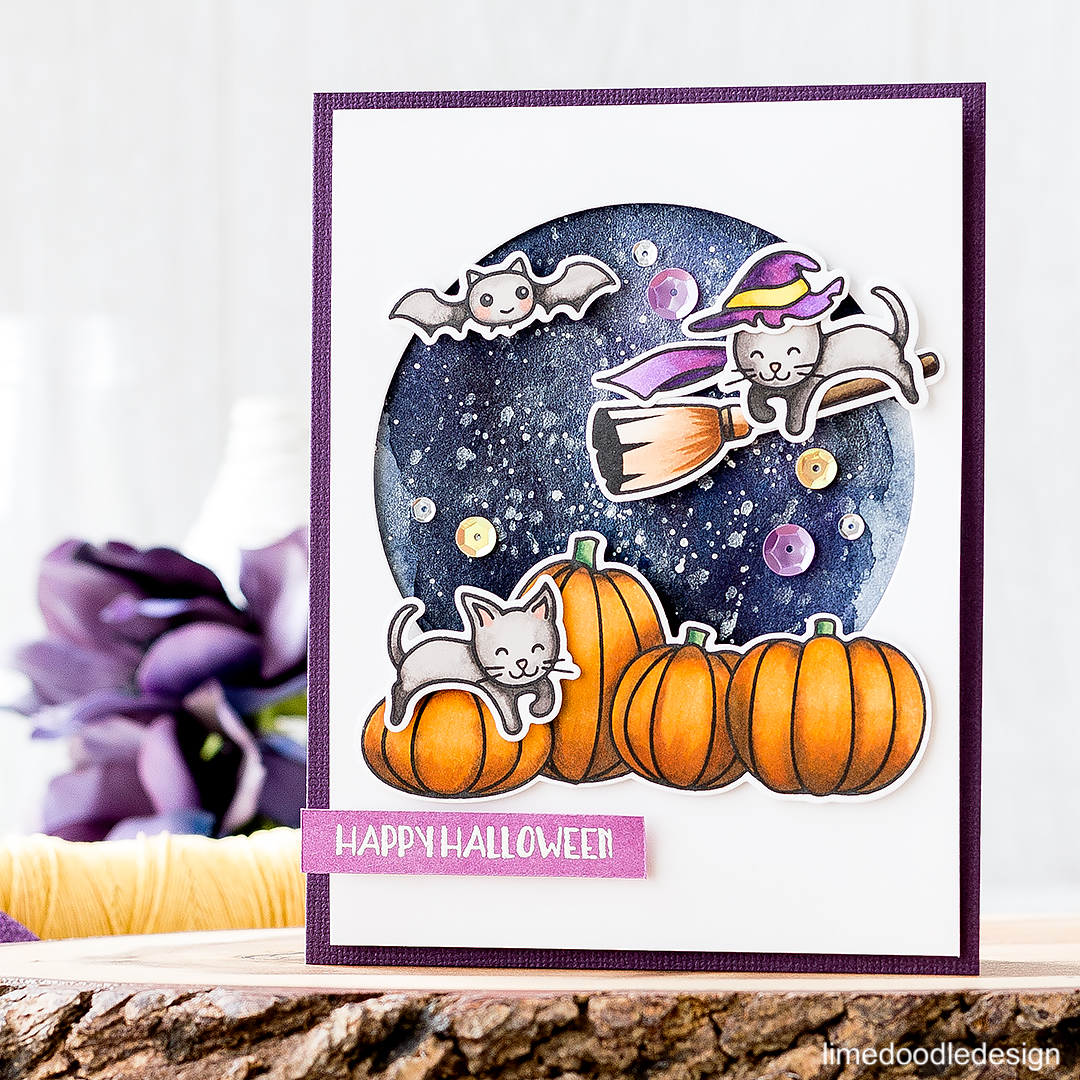 Happy Halloween. Find out more about this card by clicking on the following link: http://limedoodledesign.com/2016/09/happy-halloween-4/