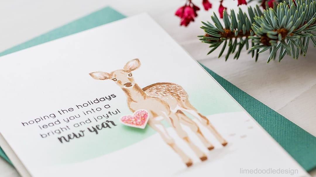 Floral, Holiday, Christmas/New Year, thank you cards for Altenew October Release. Find out more by clicking on the following link: http://limedoodledesign.com/2016/10/altenew-october-release-blog-hop/