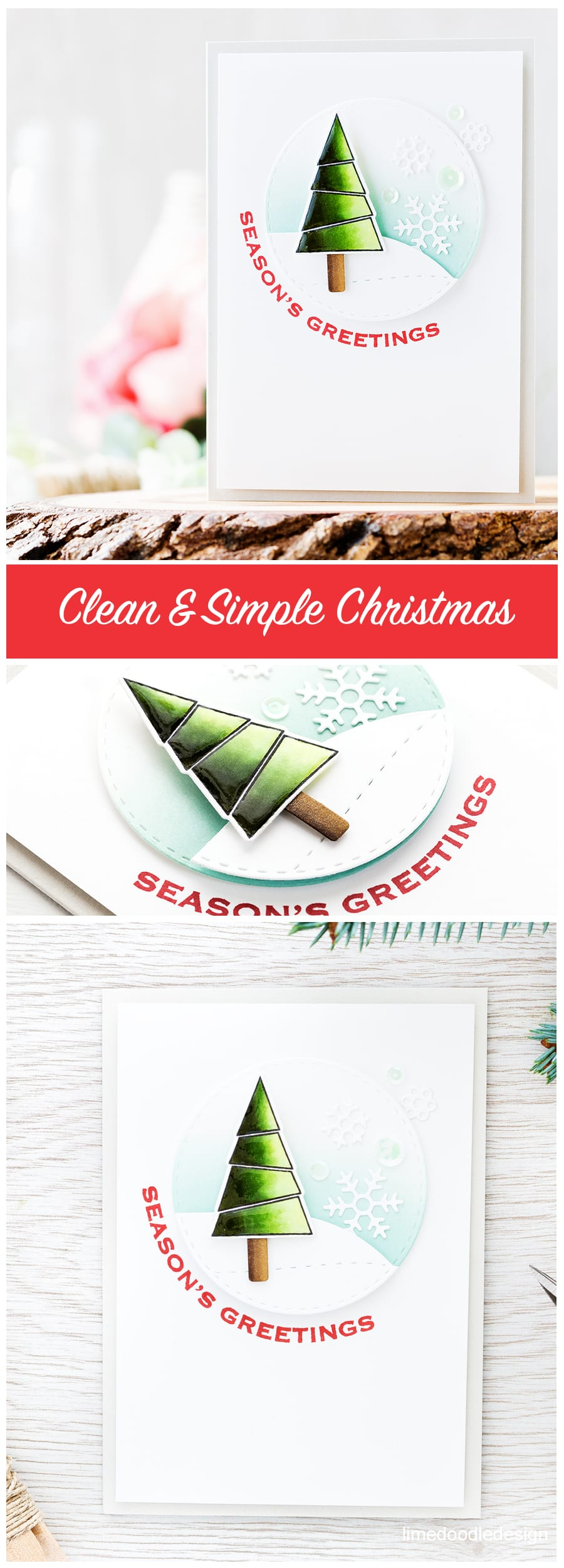 I'm going super clean & simple and nice and easy with today's Christmas card which makes it perfect for mass producing those Holiday cards! Find out more about this Christmas card by clicking on the following link: http://limedoodledesign.com/2016/10/clean-simple-christmas/