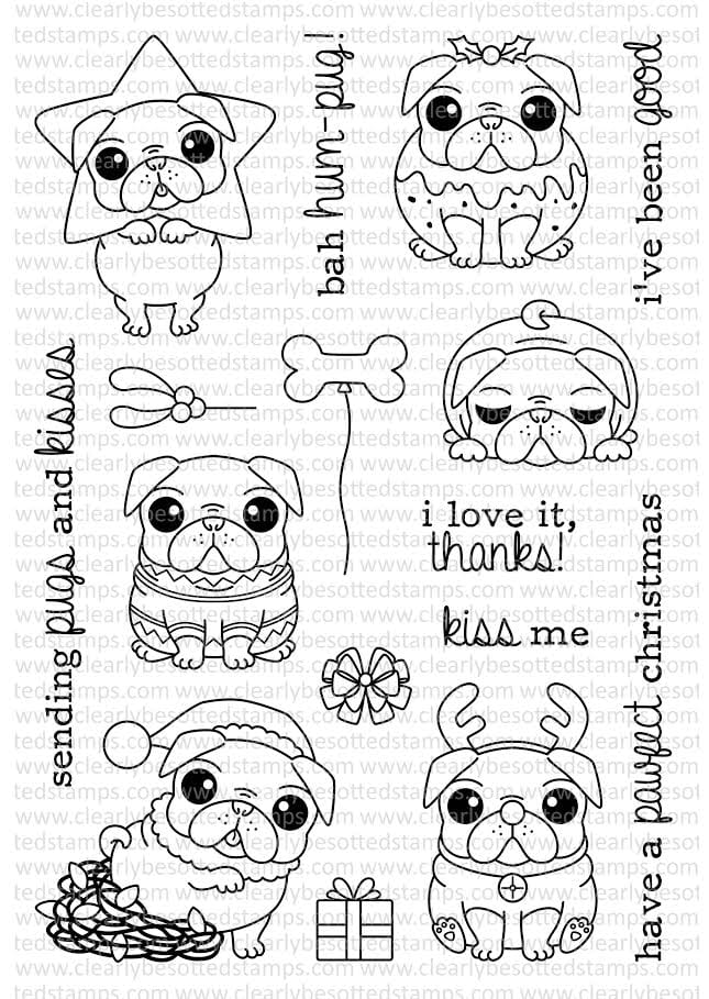 Bah Hum-Pug set from Clearly Besotted Stamps