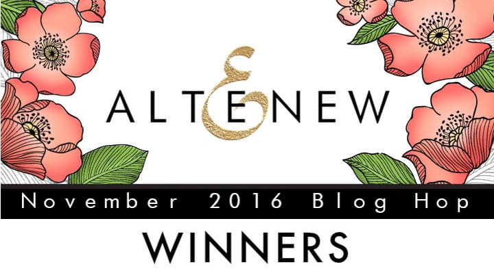 Altenew November Blog Hop Winner
