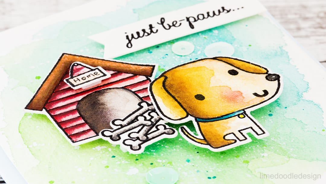 Coloring two ways with the new Paw Prints set from Reverse Confetti. Find out more about these cute dog cards by clicking on the following link: http://limedoodledesign.com/2016/11/coloring-two-ways/