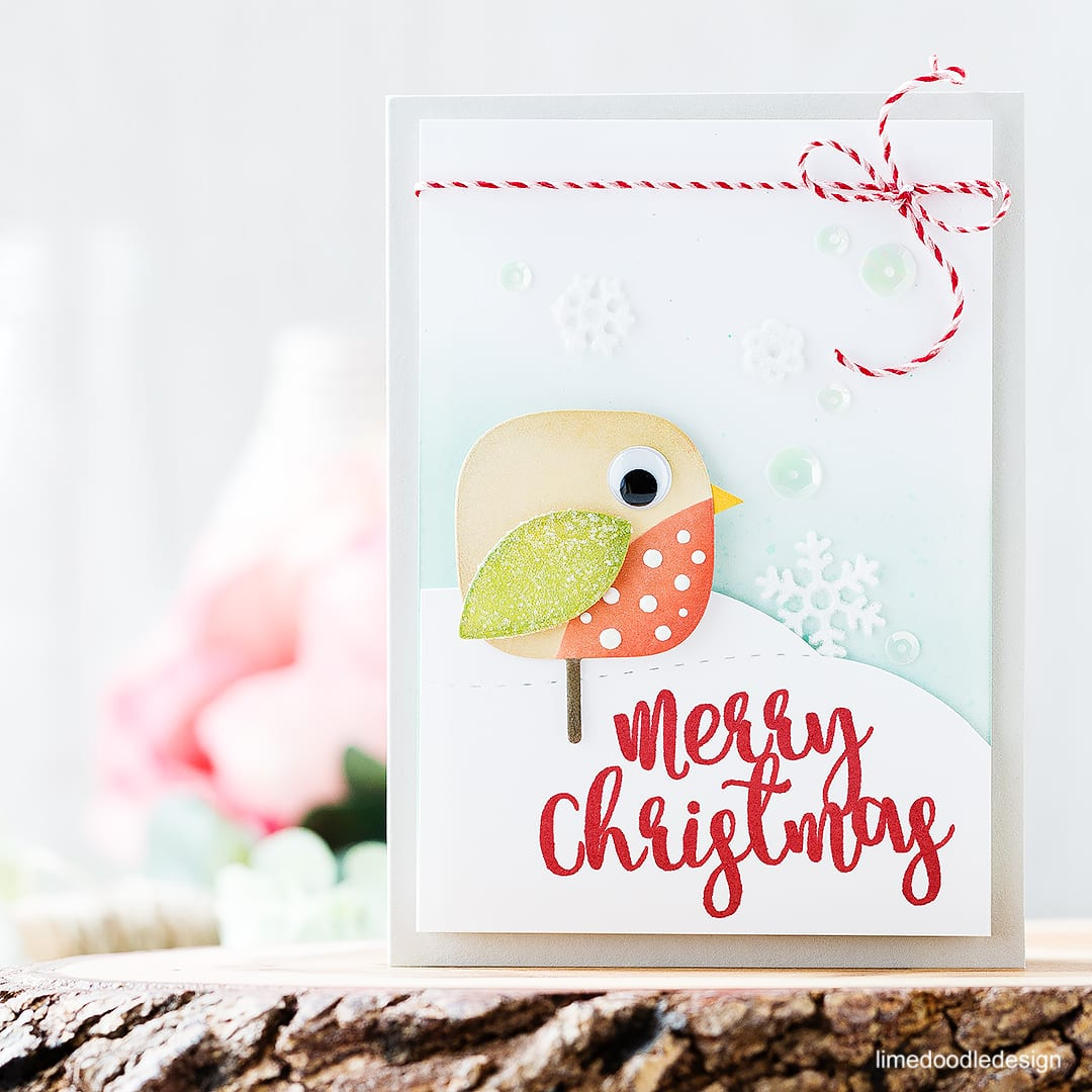 Quirky Christmas Robin. Find out more about this card by clicking on the following link: http://limedoodledesign.com/2016/11/quirky-christmas-robin/
