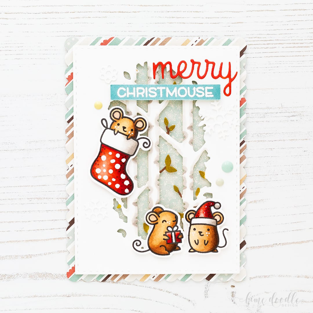The adorable Merry Christmouse collaborative set between Lawn Fawn and Simon Says Stamp has been brought back from the vault! Find out more about this Christmas card by clicking on the following link: http://limedoodledesign.com/2016/11/merry-christmouse-from-the-vault/
