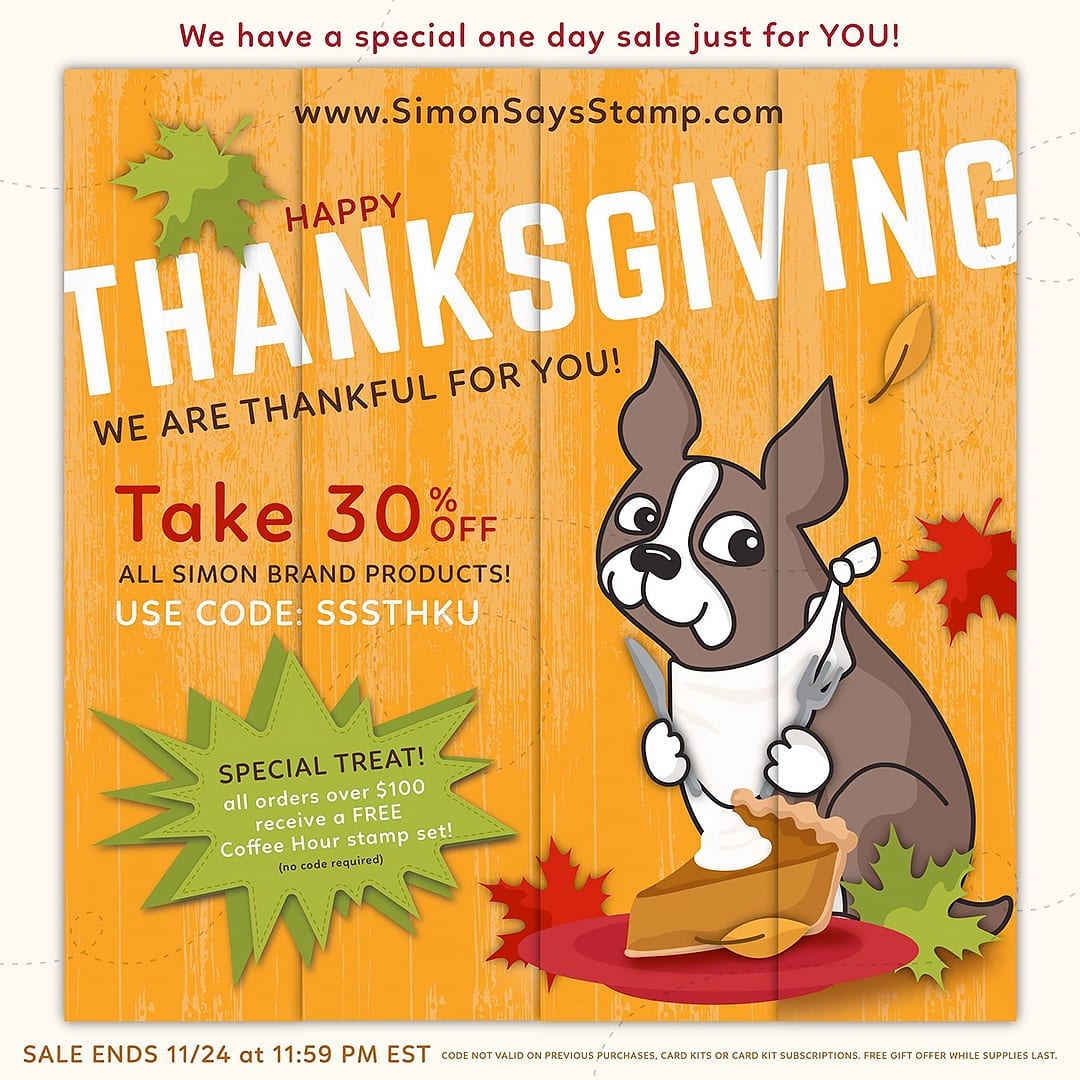 Simon Says Stamp Thanksgiving Sale