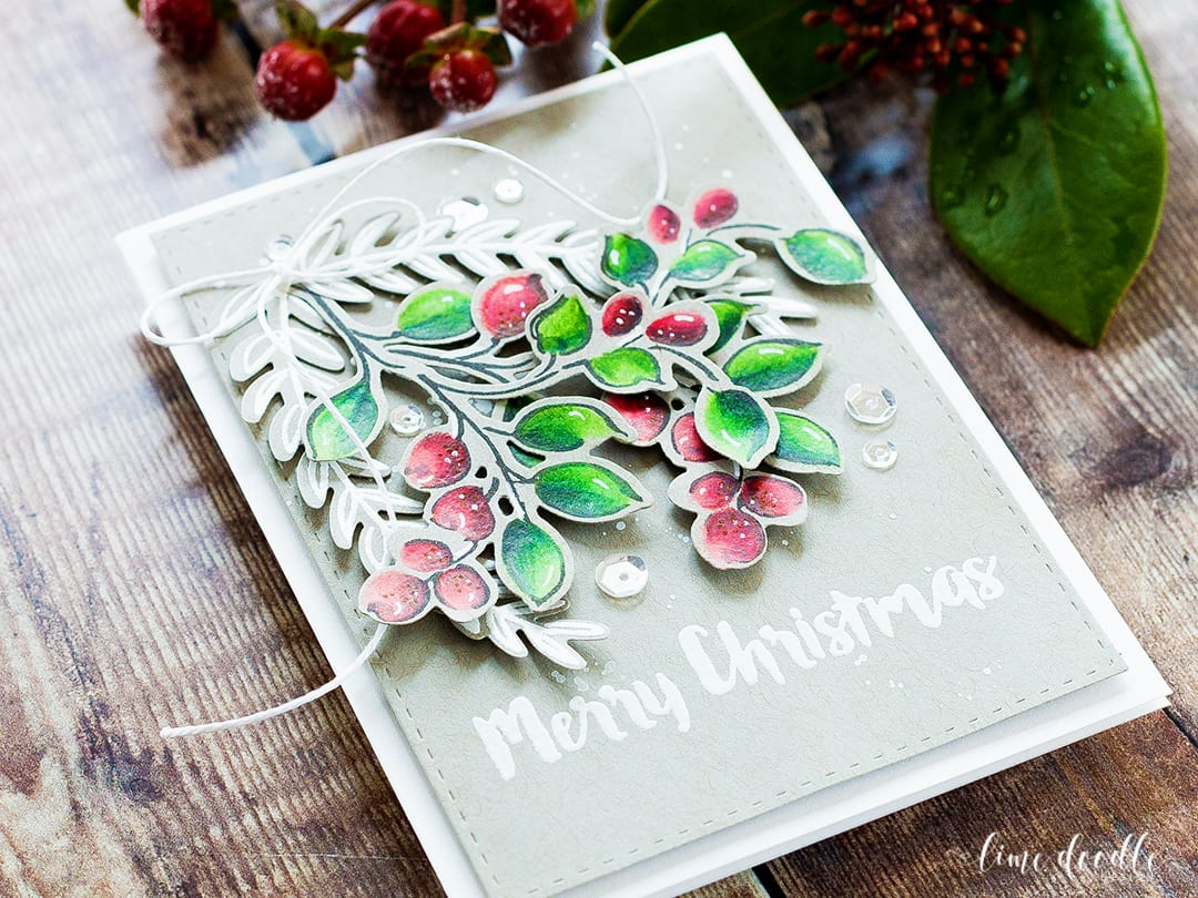 Winter Berries – Colored Pencils On Kraft Card