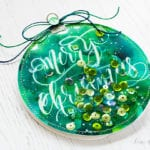 Watercolored Shaker Ornament