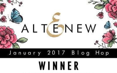 Altenew Artist Markers Blog Hop Winner