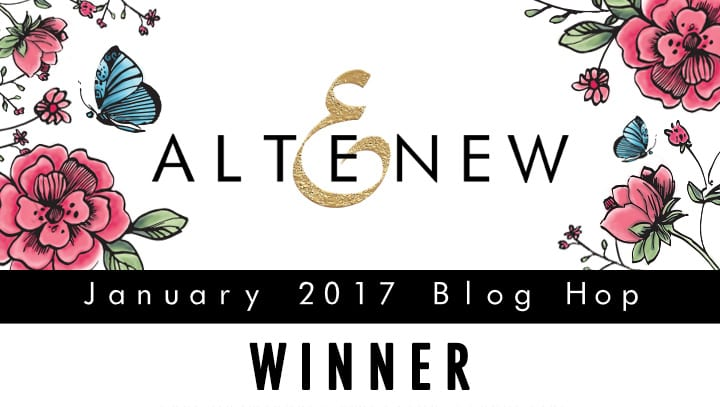 Altenew Artist Markers Blog Hop Winner