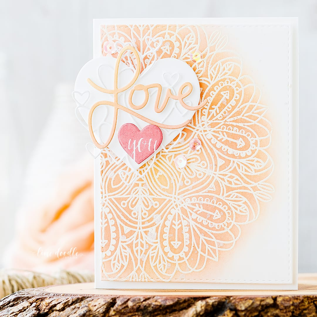 Layered Valentine's Die Cuts. Find out more about this Valentine's card by clicking on the following link: http://limedoodledesign.com/2017/01/doodling-with-debby-layered-valentines-die-cuts/