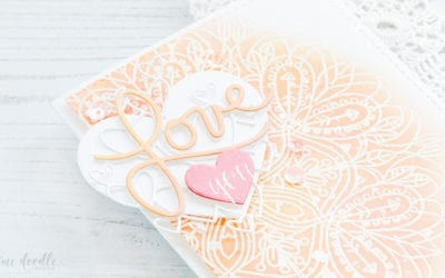 Doodling With Debby + Layered Valentine's Die Cuts