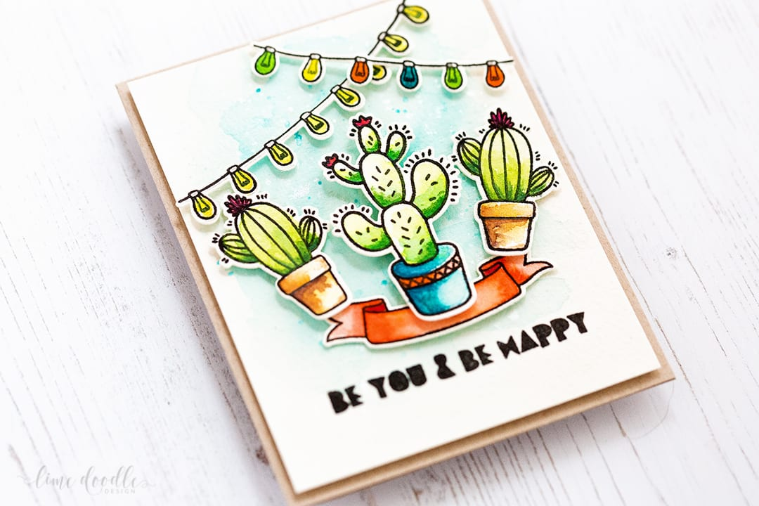 Watercolored fun Be Strong set from Altenew by Debby Hughes. Find out more by clicking on the following link: http://limedoodledesign.com/2017/01/altenew-january-release-blog-hop-ii-giveaway/