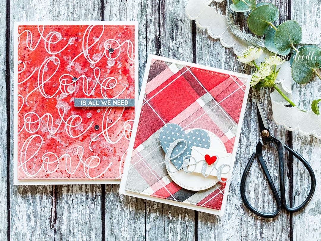 Watercolored Card Backgrounds Two Ways + Giveaway