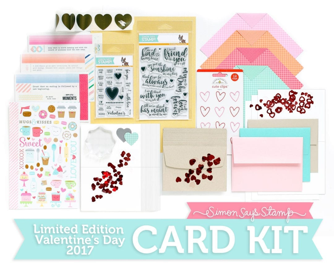 Simon Says Stamp Limited Edition Valentine's Day 2017 Card Kit. Find out more about this kit by clicking on the following link: http://limedoodledesign.com/2017/01/limited-edition-love-you-forever-card-kit/