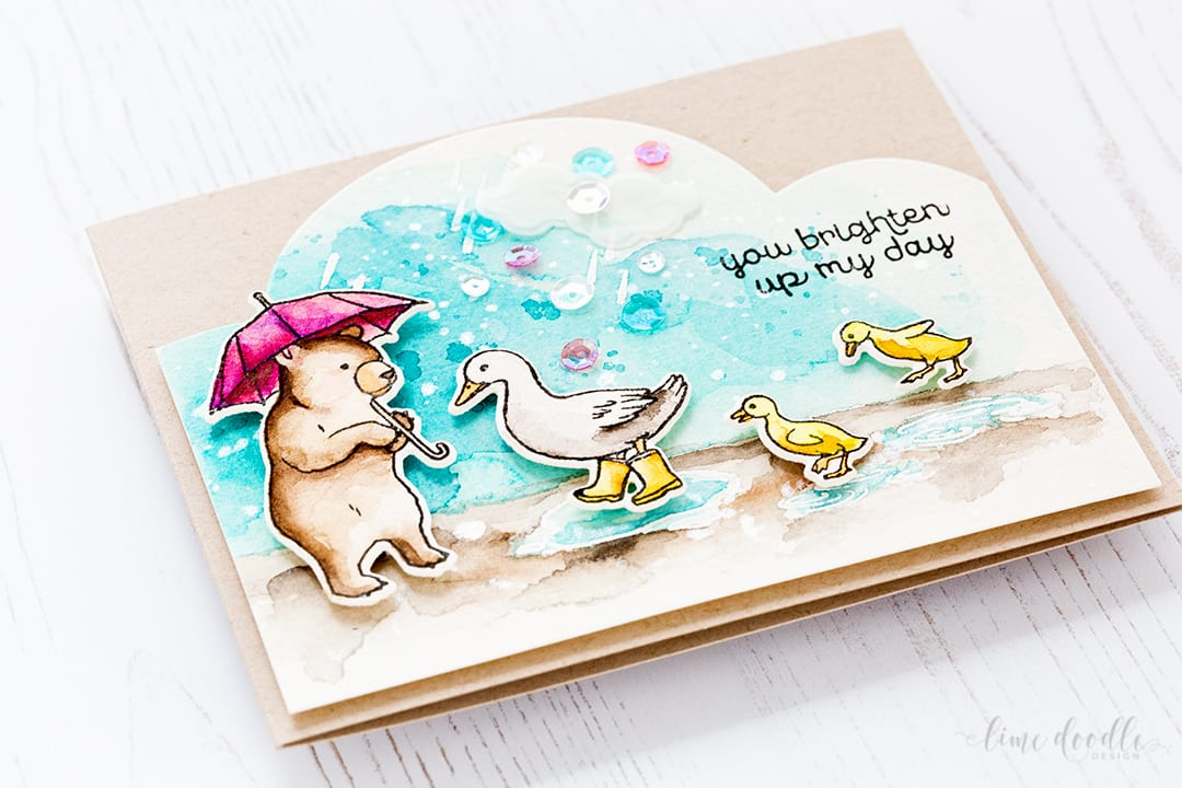 Puddle Ducks card from Debby Hughes using the Hero Arts February My Monthly Hero kit. Find out more about this card by clicking on the following link: http://limedoodledesign.com/2017/02/puddle-ducks-hero-arts-my-monthly-hero/