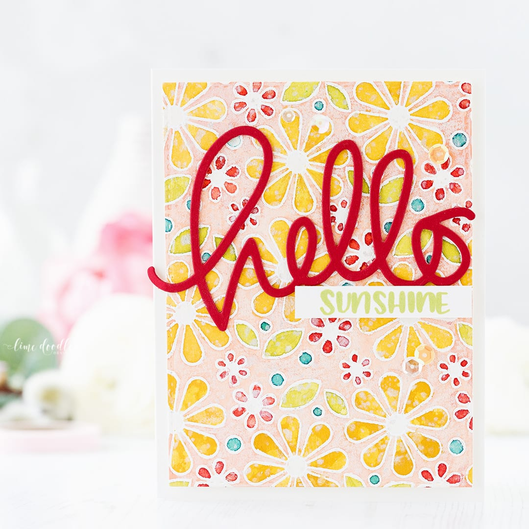 Hello Sunshine card by Debby Hughes using the Simon Says Stamp Hopping Along Limited Edition Card Kit. Find out more about this card by clicking on the following link: http://limedoodledesign.com/2017/02/hopping-along-limited-edition-card-kit/