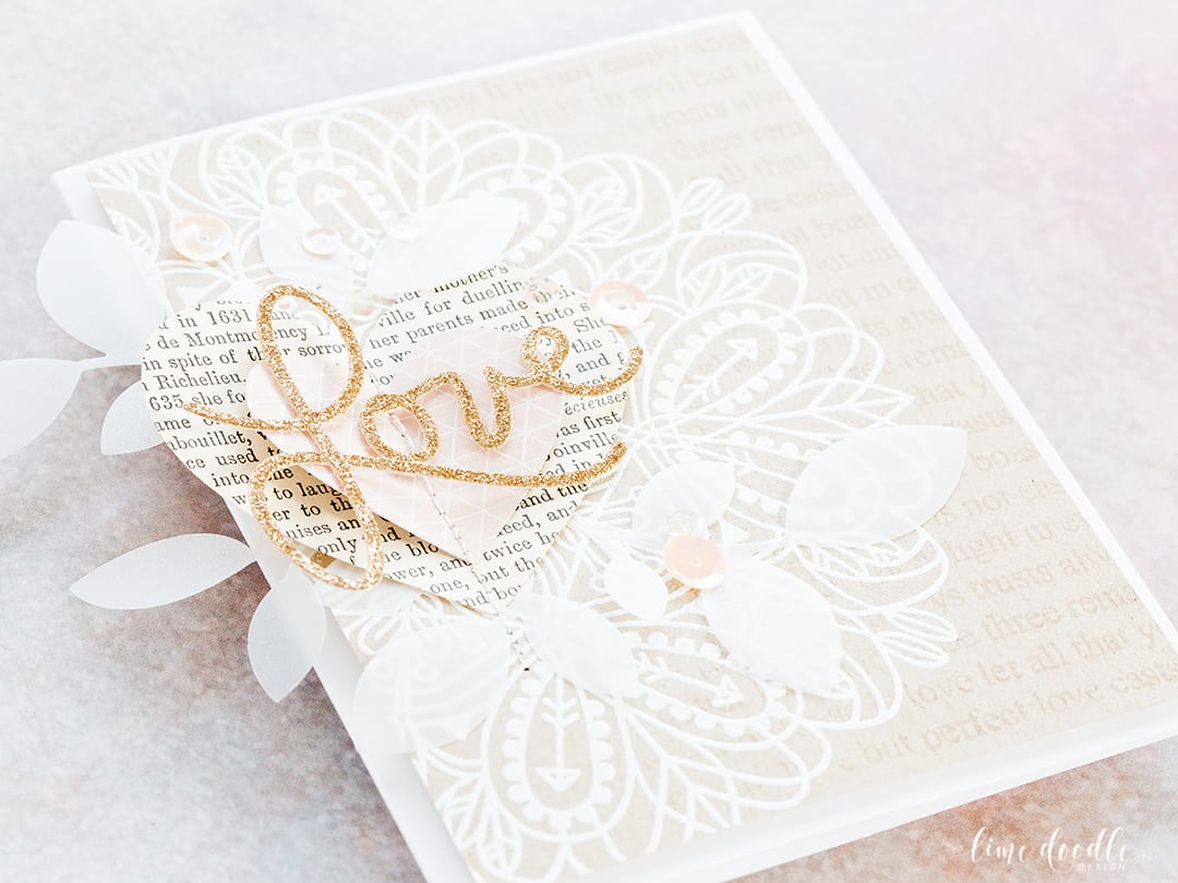 White Embossing On Kraft