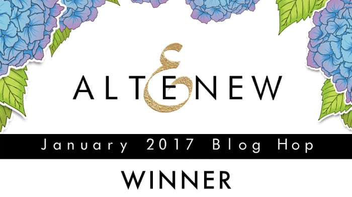 Altenew January Blog Hop Winner