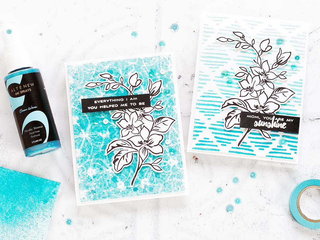 Altenew Stencils & Ink Sprays Release Blog Hop + Giveaway