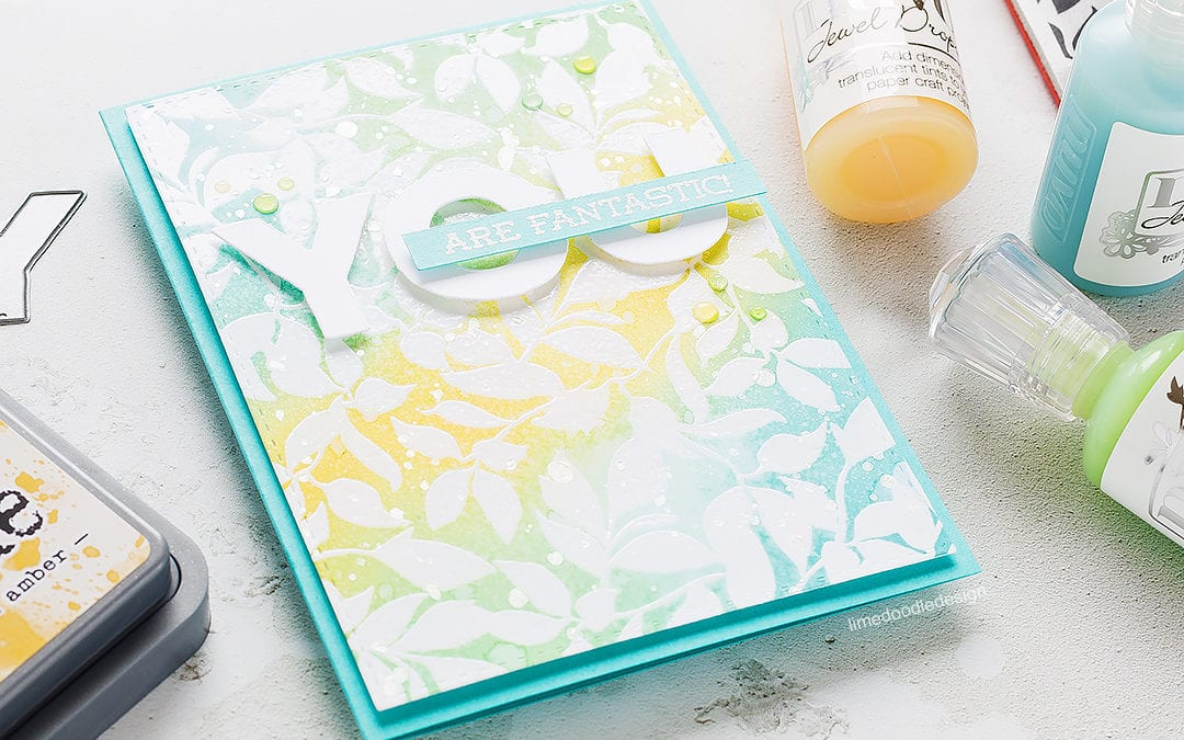 Doodling With Debby – Quick & Easy Distress Oxide Background + Giveaway