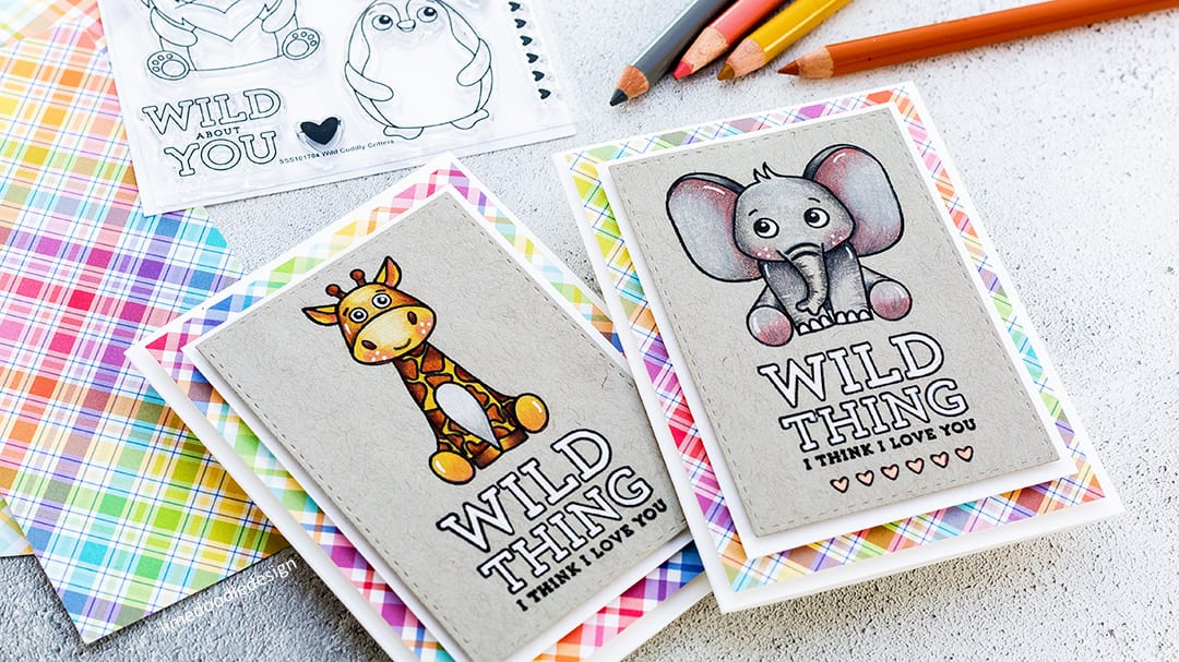 Pencil Coloring On Kraft + Simon Says Stamp Card Kit