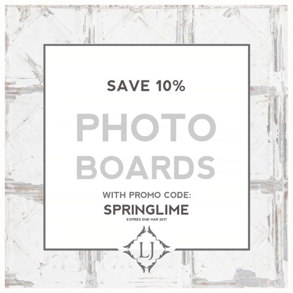 Photo Boards SPRINGLIME 10% offer