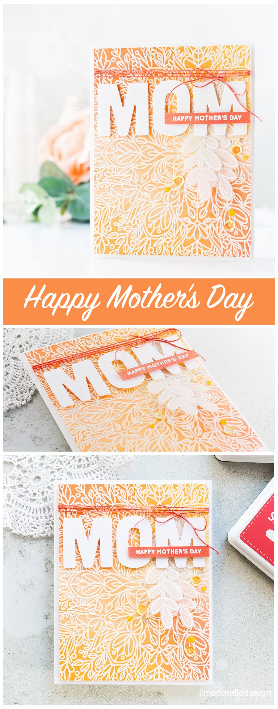 Mother's Day card by Debby Hughes using the new Mothers Fathers Flowers release from Simon Says Stamp. Find out more by clicking on the following link: http://limedoodledesign.com/2017/04/mothers-fathers-flowers-sss-release-hop/