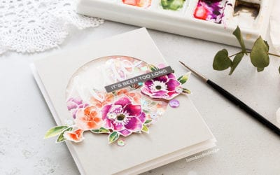 Video – Watercoloured Shaker Card