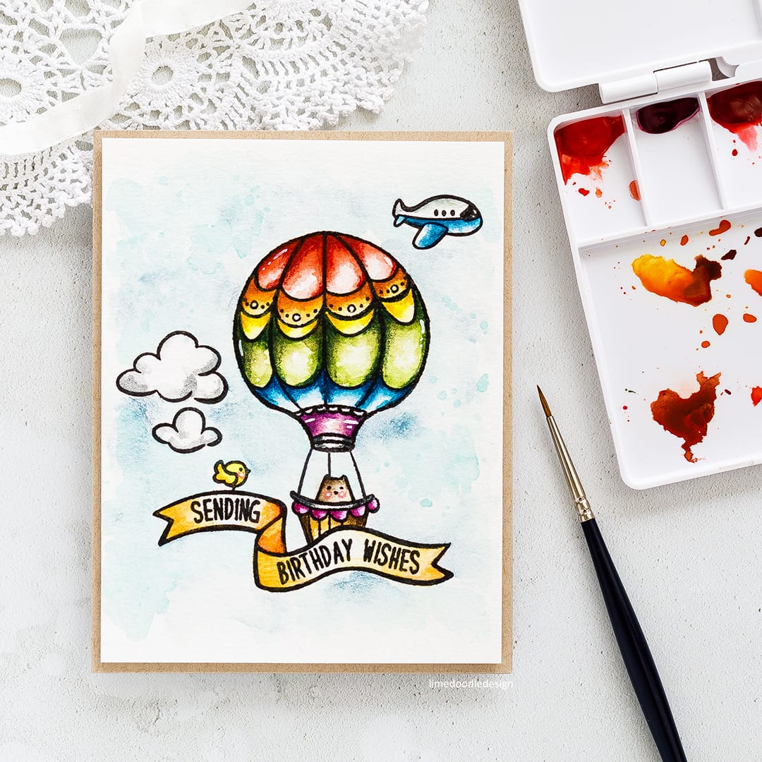 Taking a look at the new Summer Release from Waffle Flower and the cute Across The Miles Big Bear & Bird set. Find out more about this card by Debby Hughes by clicking on the following link: http://limedoodledesign.com/2017/05/sending-birthday-wishes-watercolour-new-waffle-flower/
