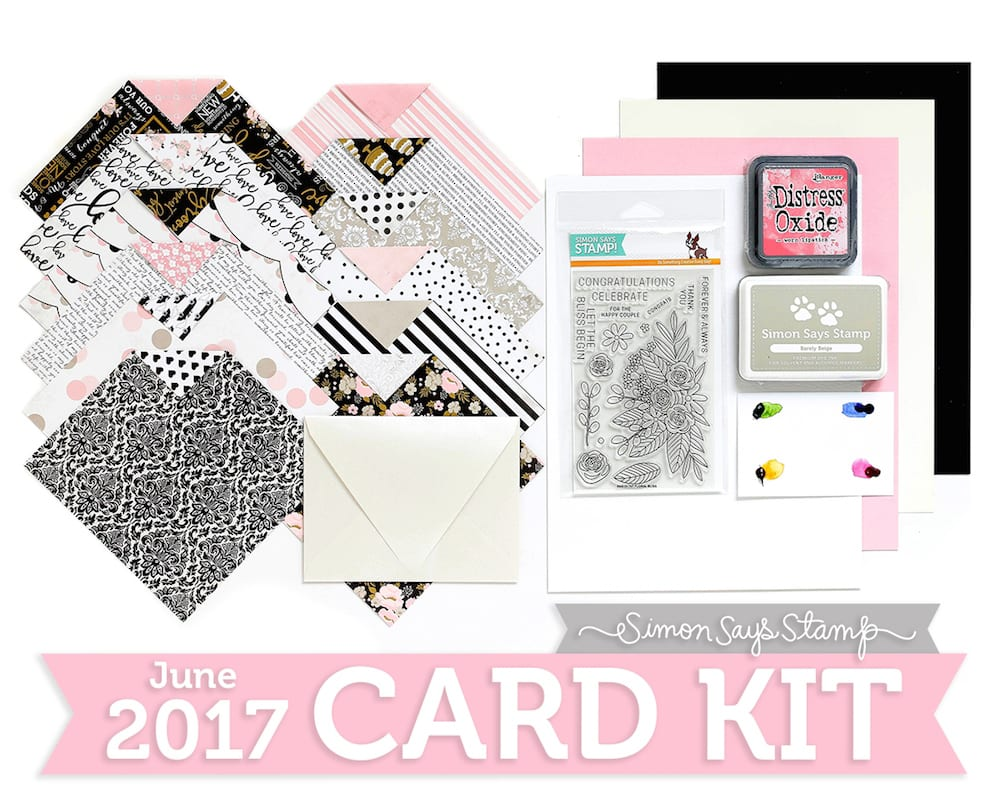 Simon Says Stamp June 2017 Card kit. For inspiration using this kit please visit