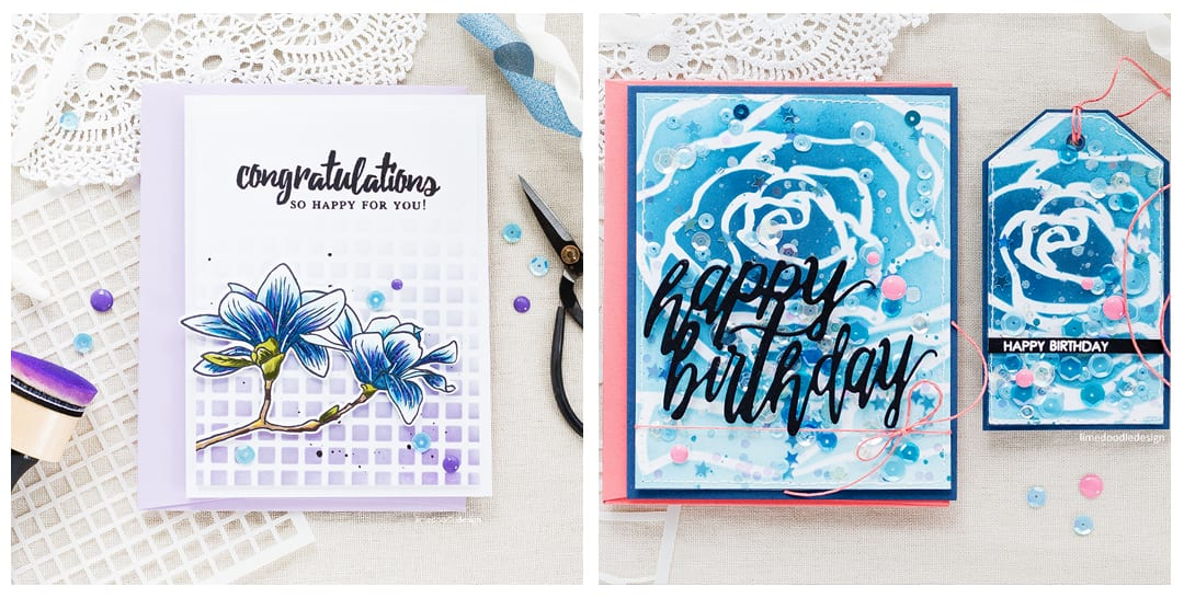 A look at the new stencils from Altenew. Find out more by clicking on the following link: http://limedoodledesign.com/2017/06/altenew-june-2017-release-blog-hop-giveaway/