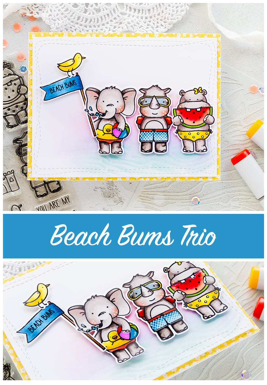 The Cutest Beach Bums card by Debby Hughes. Find out more by clicking on the following link http://limedoodledesign.com/2017/06/the-cutest-beach-bums/