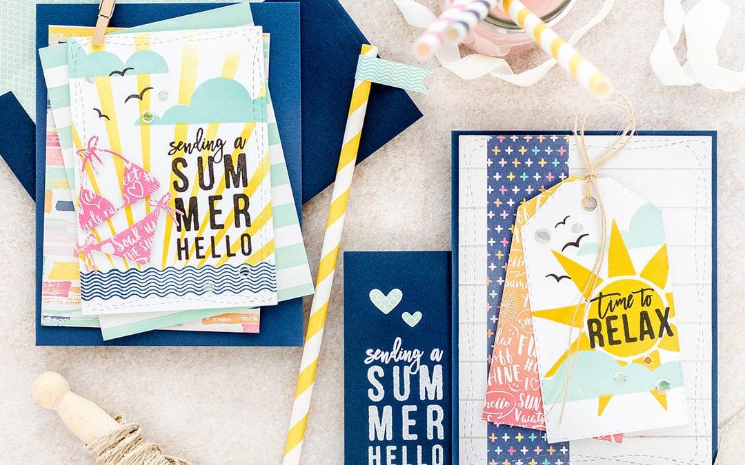 Sending A Summer Hello – Simon Says Stamp July Card Kit