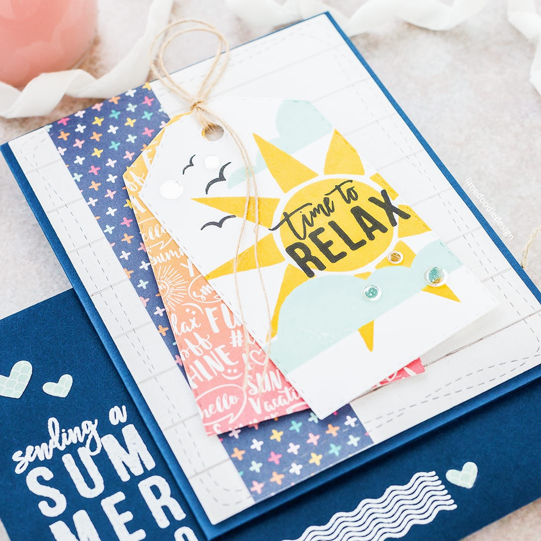 Summer Notecards by Debby Hughes using the Simon Says Stamp July Card Kit. Click here for more information about these cards and envelopes http://limedoodledesign.com/2017/06/sending-a-summer-hello-simon-says-stamp-july-card-kit/