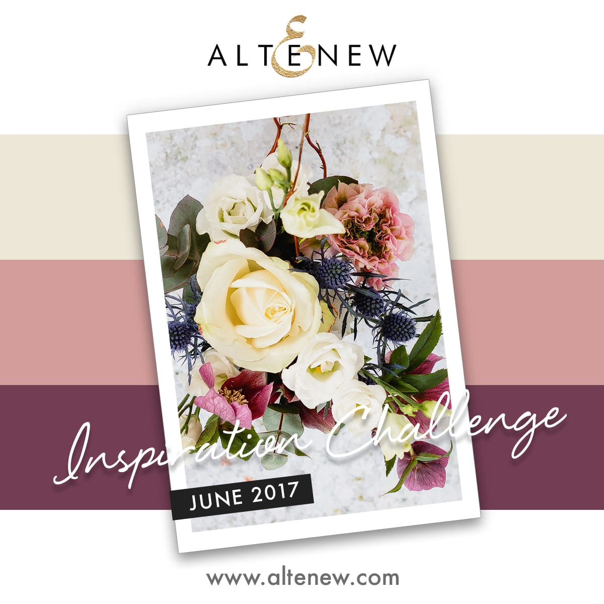 June 2017 Inspiration Challenge by Debby Hughes. Find out more by clicking on the following link: http://limedoodledesign.com/2017/06/altenew-june-inspiration-challenge-winner/