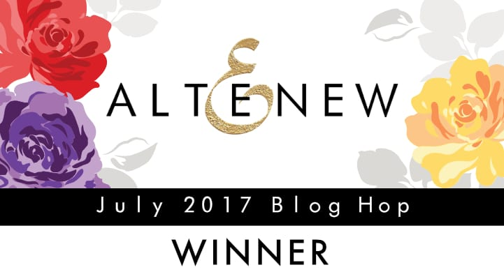 Altenew July Blog Hop Winner