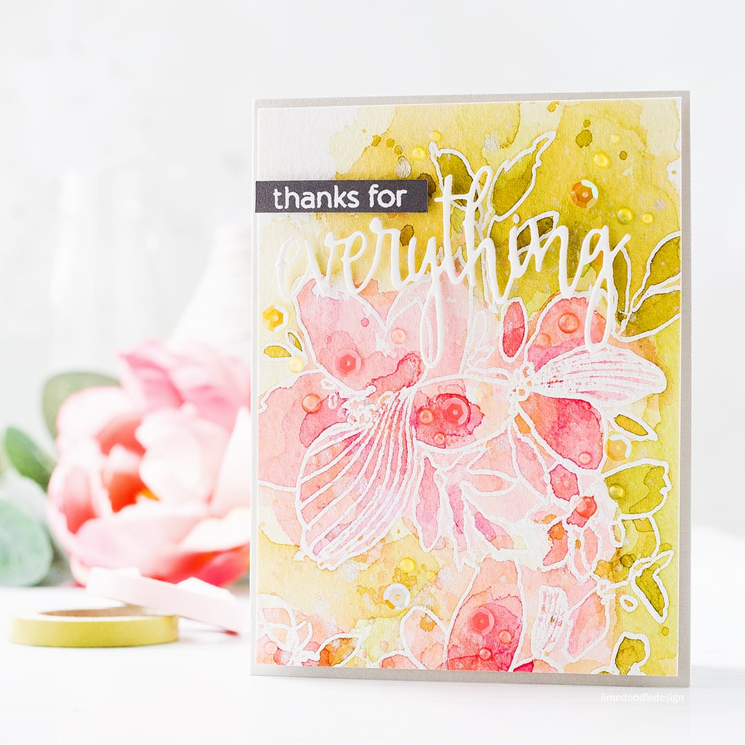 Reviewing the new July 2017 release from Altenew. Handmade watercoloured flower card by Debby Hughes. Find out more: http://limedoodledesign.com/2017/07/altenew-july-2017-release-blog-hop-giveaway/