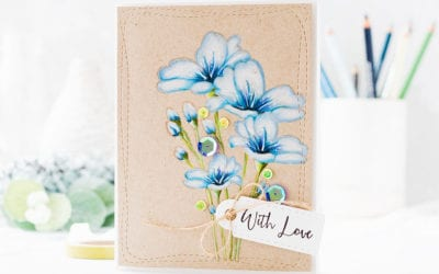 Doodling With Debby – Pencil Colouring On Kraft