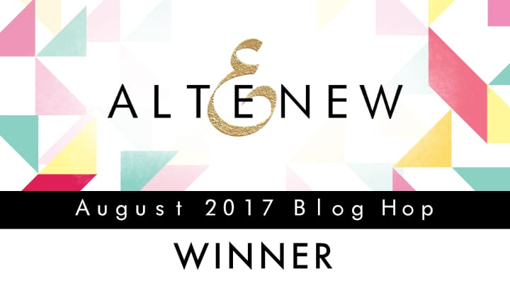 Altenew August 2017 Release Blog Hop Winner