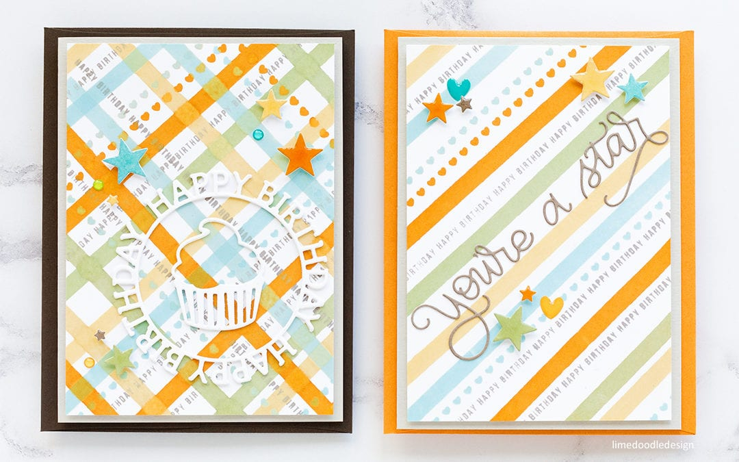 Stamped Striped & Plaid Backgrounds