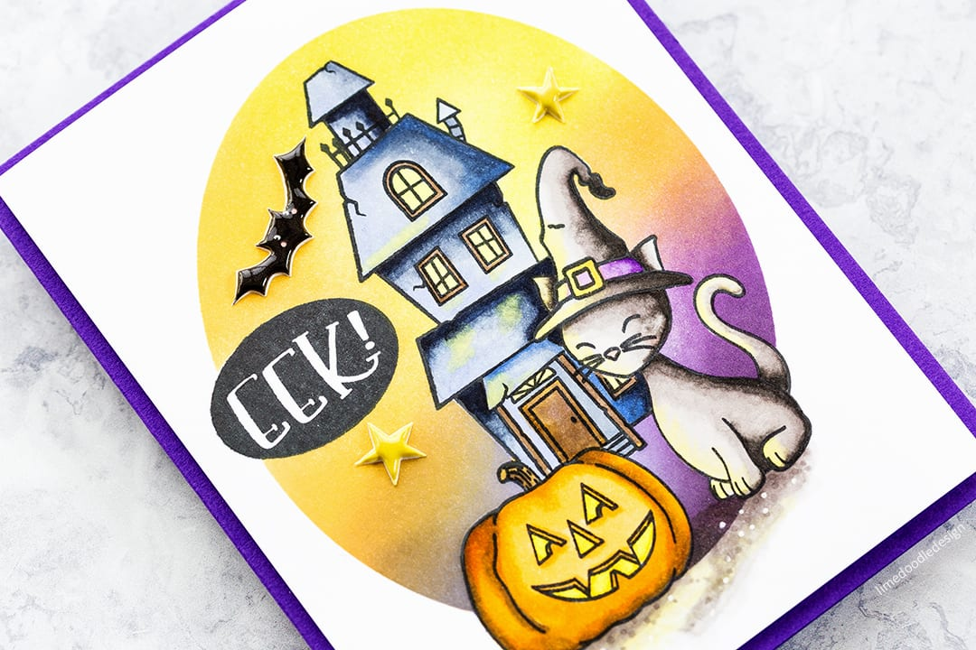 Creepy cute Halloween handmade card by Debby Hughes using the special edition card kit from Simon Says Stamp. Find out more here: http://limedoodledesign.com/2017/09/simon-says-stamp-special-edition-halloween-2017-card-kit/