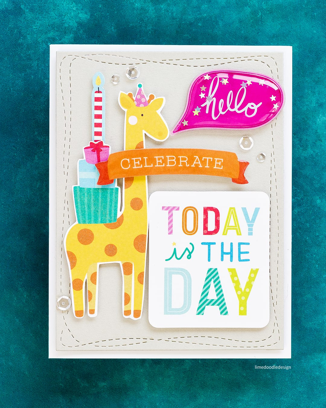 Quick & easy children's handmade cards using the Limited Edition STAMPtember Card Kit. Find out more about these kids cards here: http://limedoodledesign.com/2017/09/limited-edition-stamptember-card-kit/