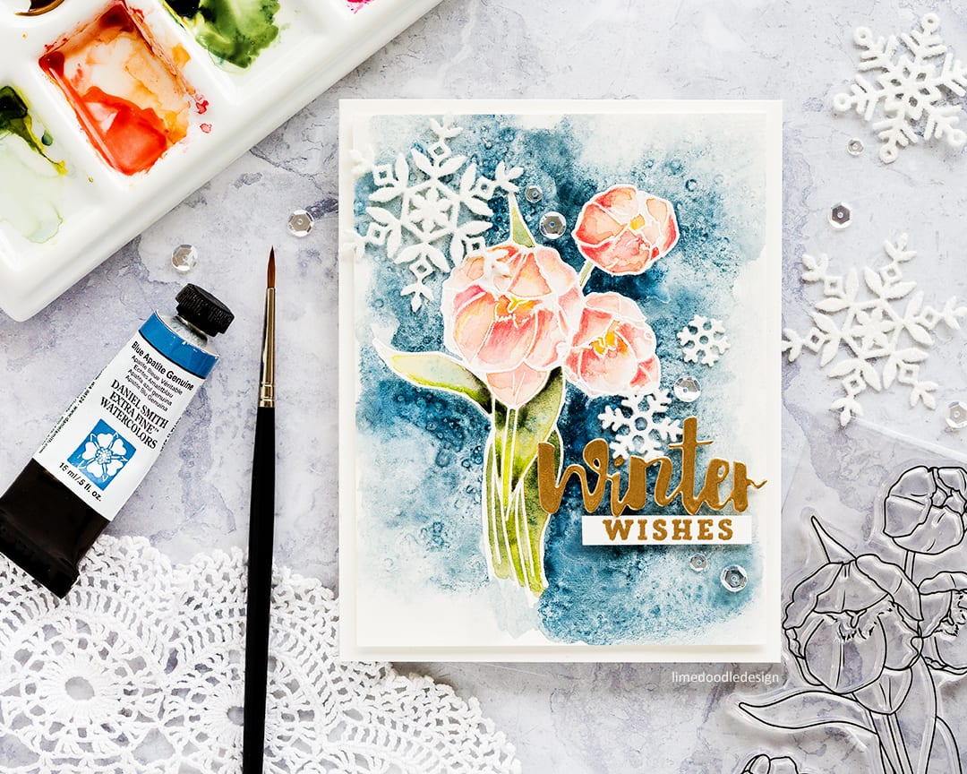 WPlus9 STAMPtember – Winter Florals