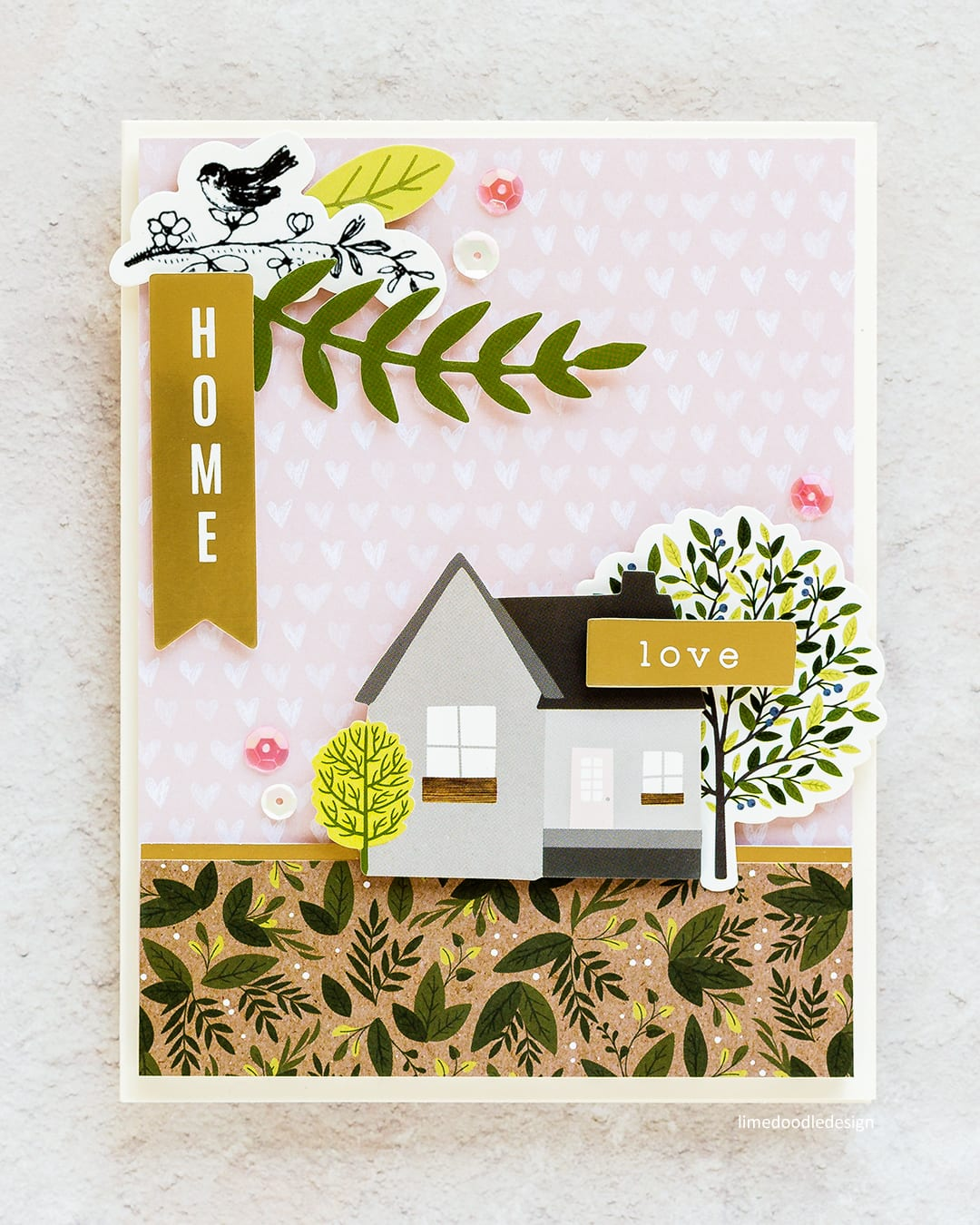 Video tutorial - super quick and easy handmade card and gift box using the patterned papers and stickers from the Simon Says Stamp November Card Kit. Find out more here: http://limedoodledesign.com/2017/10/video-quick-easy-card-gift-box/