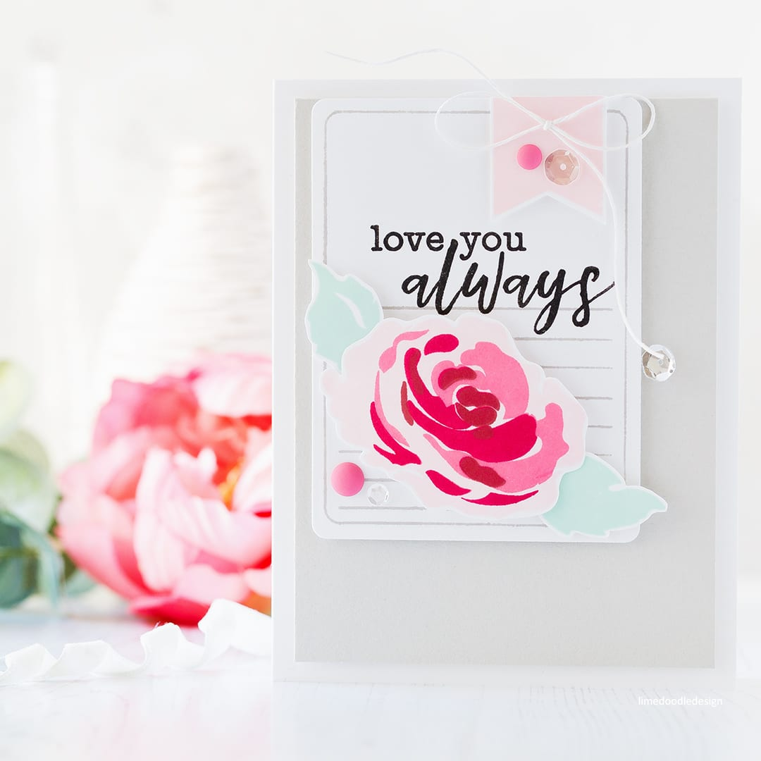 Video - one design, two slightly different handmade cards by Debby Hughes using new Altenew stamps and dies. Find out more here: http://limedoodledesign.com/2017/11/video-altenew-november-2017-release-blog-hop-giveaway/