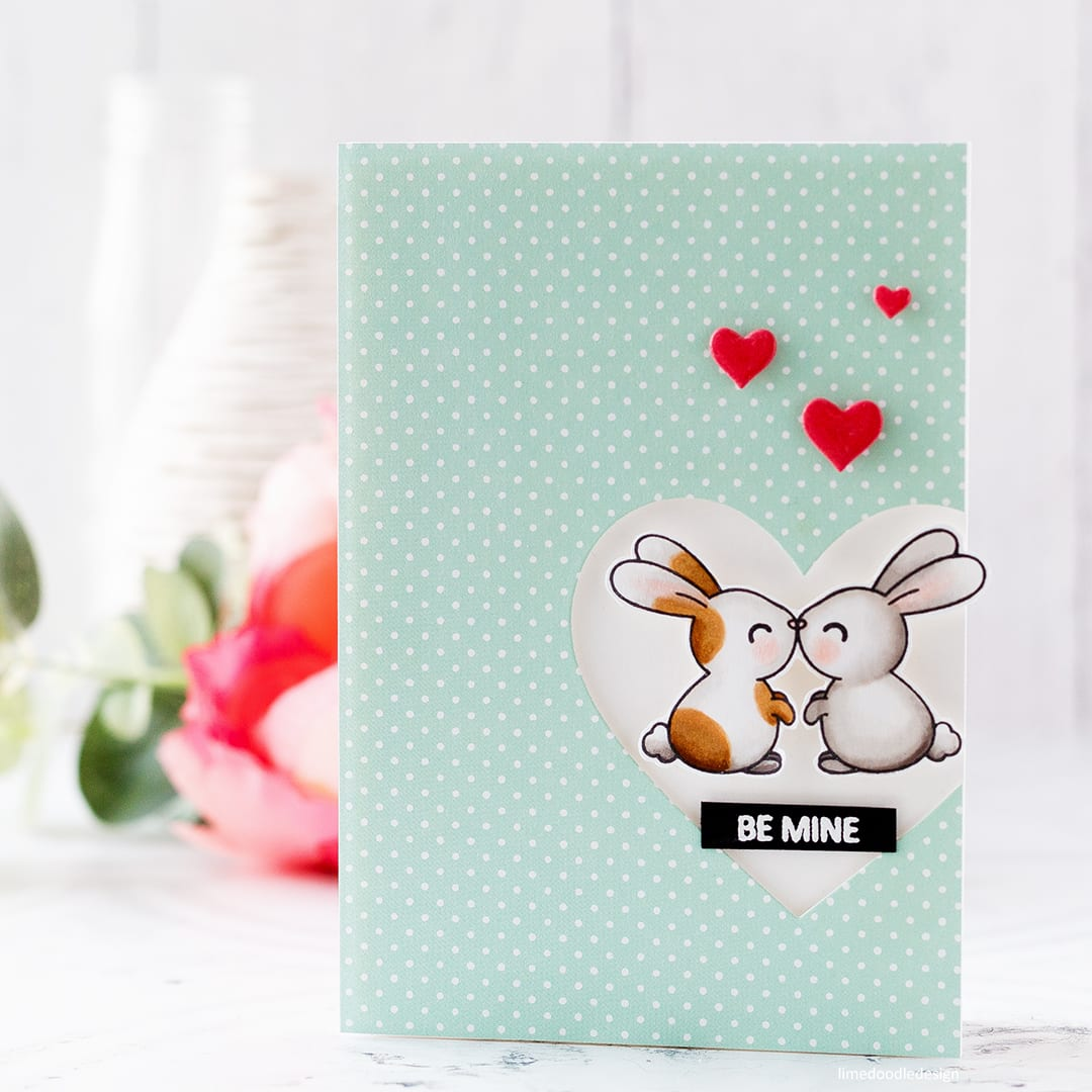 A trio of super cute, quick & easy handmade Valentine's cards by Debby Hughes using the Kiss Me Quick set from Clearly Besotted. Find out more here: http://limedoodledesign.com/2018/01/cute-quick-easy-valentines/