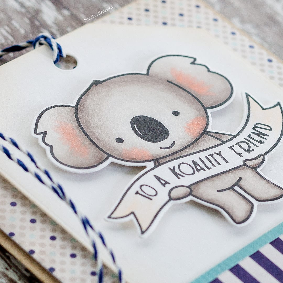 To A Koality Friend - cute koala handmade card by Debby Hughes using the new Neat & Tangled Koalifications set. Find out more here: http://limedoodledesign.com/2018/01/to-a-koality-friend/